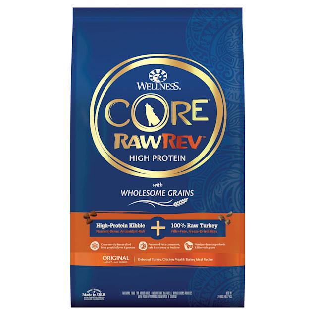 Wellness CORE RawRev Wholesome Grains Original Turkey Recipe Dry Dog Food, 20 lbs., Bag - Carousel image #1