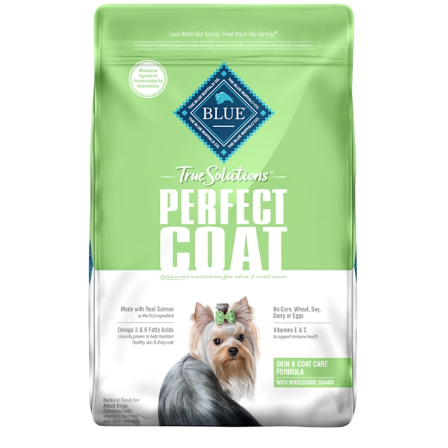 Blue Buffalo True Solutions Perfect Coat Natural Skin & Coat Care Salmon Flavor Adult Dry Dog Food, 24 lbs. - Carousel image #1
