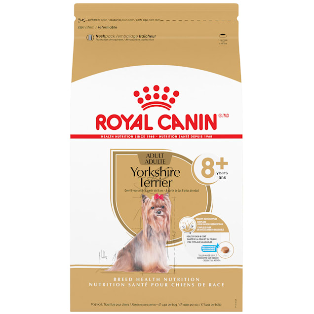 Royal Canin Yorkshire Terrier Adult 8+ Dry Food for Aging Dogs, 10 lbs. - Carousel image #1