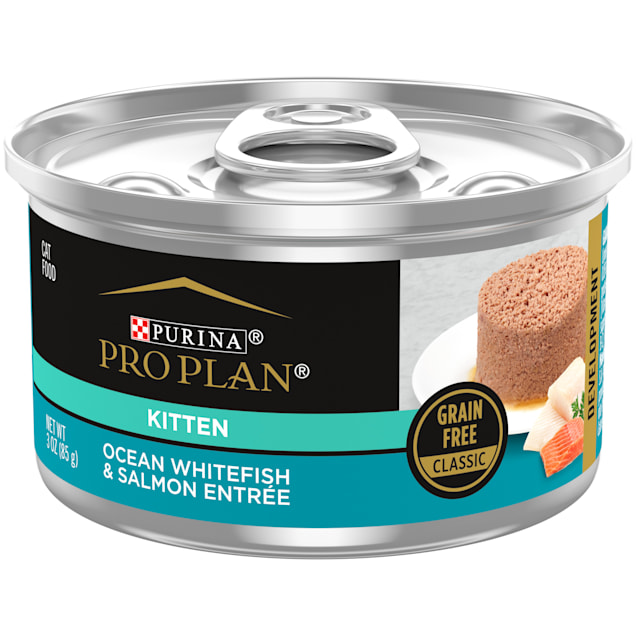 Purina Pro Plan Grain Free, True Nature Ocean Whitefish & Salmon Entree Wet Kitten Food, 3 oz., Case of 24 - Carousel image #1
