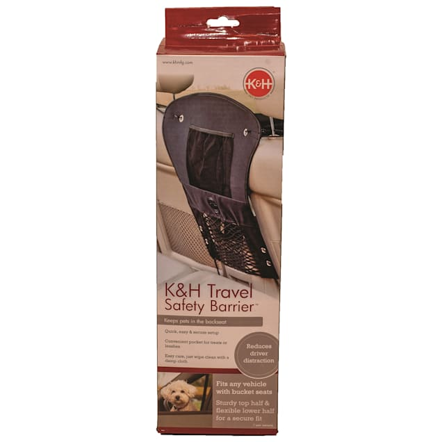 """K&H Travel Safety Black Barrier for Pets, 23"""" L X 24"""" W - Carousel image #1"""