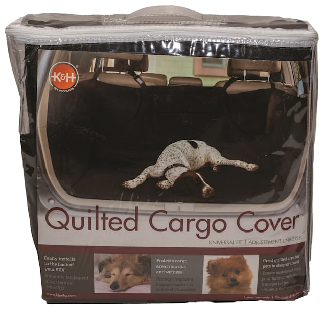 """K&H Quilted Cargo Black Cover for Pets, 52"""" L X 40"""" W X 18"""" H - Carousel image #1"""