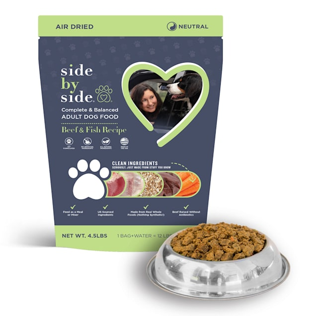 Side by Side Neutral Air Dried Beef & Fish Recipe Dry Dog Food, 4.5 lbs. - Carousel image #1
