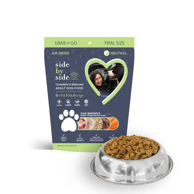 Side by Side Neutral Air Dried Grab N Go, Beef & Fish Recipe Dry Dog Food, 3.27 oz. - Carousel image #1
