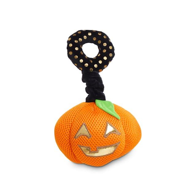 Bootique Pumpkin Bumpkin Halloween Bungee Plush Light-Up Dog Toy, Medium - Carousel image #1