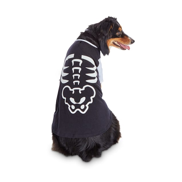 Bootique Skittish Skeleton Halloween Dog T-Shirt, X-Small - Carousel image #1