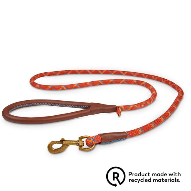 Reddy Rust Plaid Rope Lead Dog Leash, 6 ft. - Carousel image #1