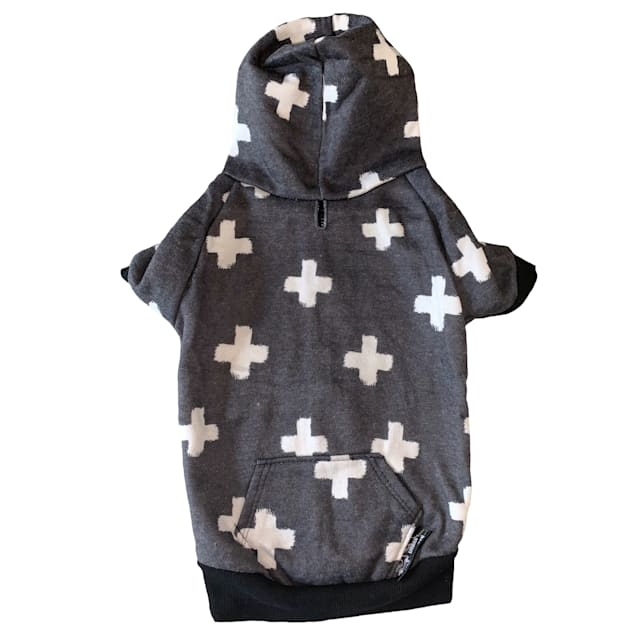 Urban Suburban Apparel Pawsitive Dog Zip-Up Hoody, Small - Carousel image #1