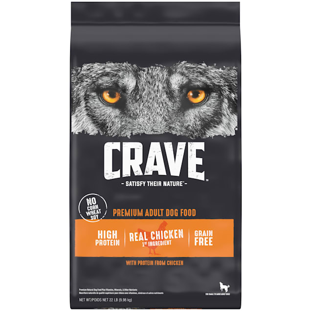 Crave Grain Free High Protein Real Chicken Premium Adult Dry Dog Food, 22 lbs. - Carousel image #1