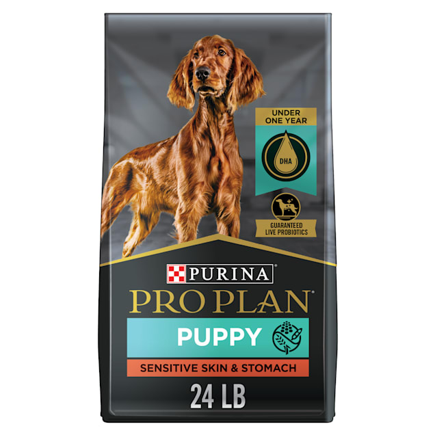 Purina Pro Plan Sensitive Skin & Stomach Salmon & Rice Formula Dry Puppy Food, 24 lbs. - Carousel image #1