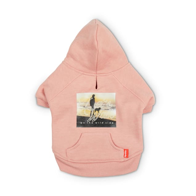 Reddy Pink Let's Walk Fleece Dog Hoodie, X-Small - Carousel image #1