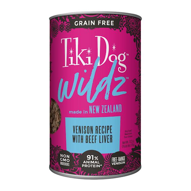 Tiki Dog Wildz Pate Venison Recipe Wet Dog Food, 13.2 oz., Case of 6 - Carousel image #1