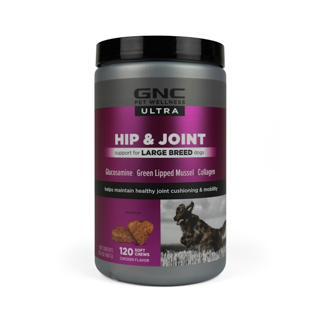 GNC Ultra Hip & Joint Chicken Flavor Soft Chews for Large Breed Dogs, Count of 120 - Carousel image #1