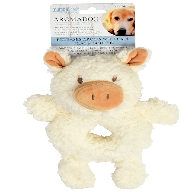 Multipet Aromadog Ring Pig Senior Dog Toy, Medium - Carousel image #1
