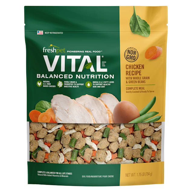 Freshpet Vital Balanced Nutrition Meal Chicken with Veggies and Wholesome Grains Dry Dog Food, 1.75 lbs. - Carousel image #1