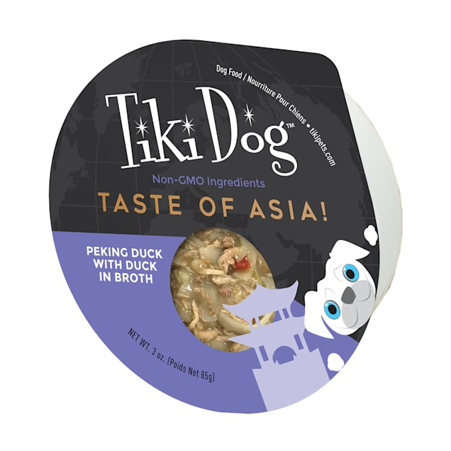 Tiki Dog Gourmet Taste of Asia Peking Duck in Broth Wet Food, 3 oz., Case of 4 - Carousel image #1