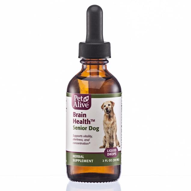 PetAlive Brain Liquid Drops Natural Herbal Brain Health Supplement for Senior Dogs, 2 fl. oz. - Carousel image #1