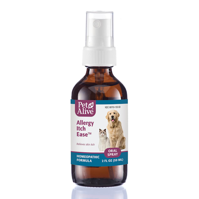 PetAlive Allergy Itch Ease Oral Spray Natural Homeopathic Formula for Pet Skin Allergies, 2 fl. oz. - Carousel image #1