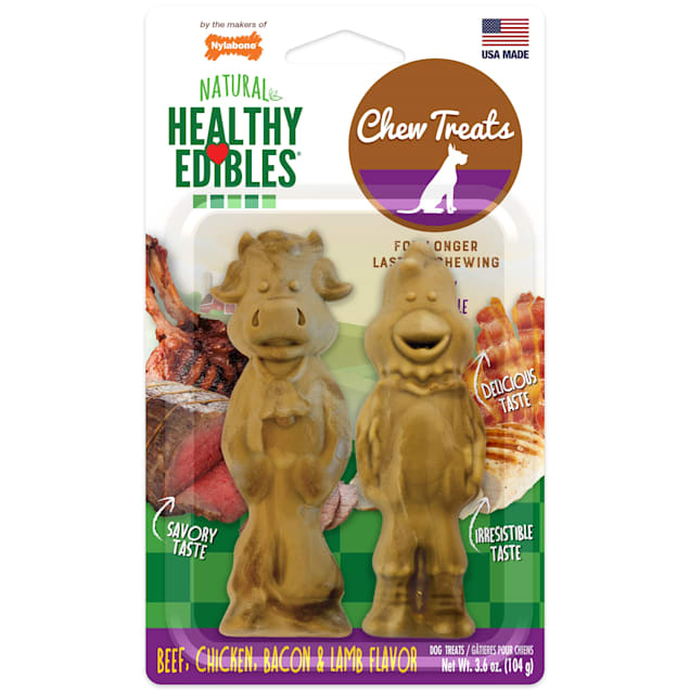 Nylabone Healthy Edibles Farm Friends Dog Treat, 3.6 oz., Count of 2 - Carousel image #1