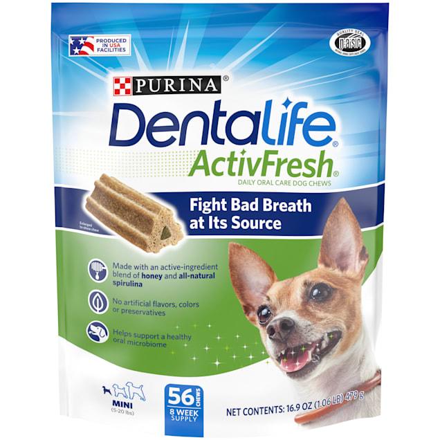 Purina DentalLife ActivFresh Daily Oral Care Mini Dog Chews, 16.9 oz. - Carousel image #1