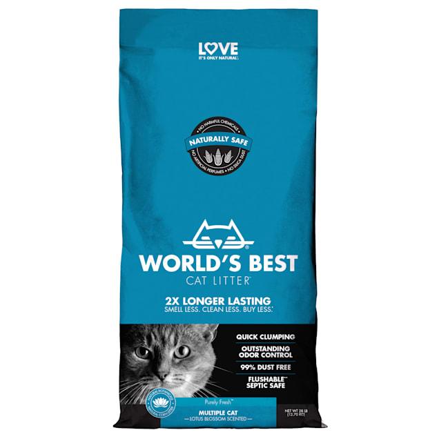 World's Best Original Series Lotus Blossom Scented Multi Cat Litter, 28 lbs. - Carousel image #1