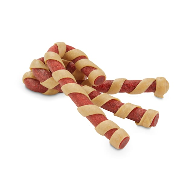 Holiday Tails Season's Treatings Chicken-Flavored Candy Canes Dog Chews, 2.8 oz., Count of 10 - Carousel image #1