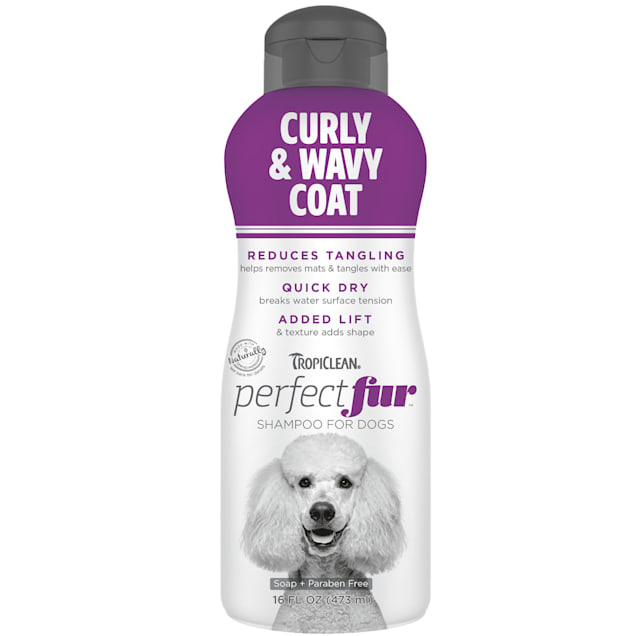TropiClean Perfect Fur Curly & Wavy Coat Shampoo for Pets, 16 fl. oz. - Carousel image #1