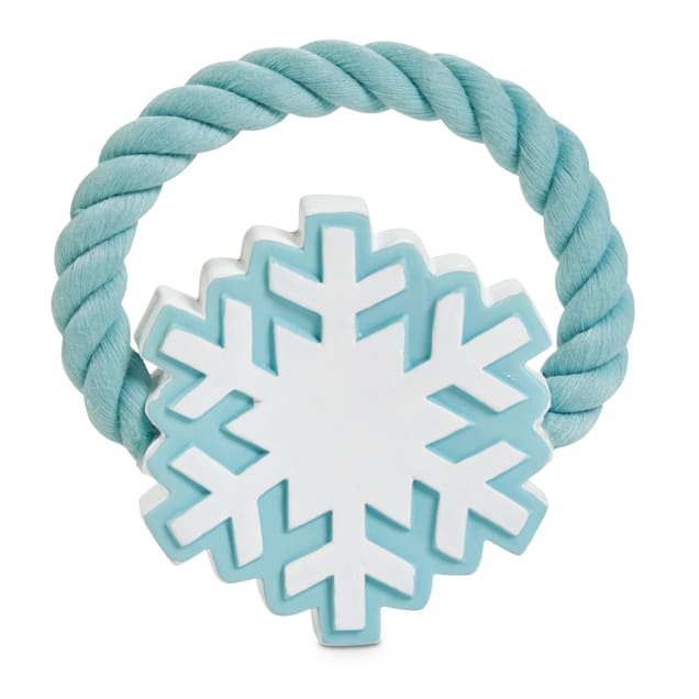 Holiday Tails The First Snowflake Rope & Latex Dog Toy, Medium - Carousel image #1
