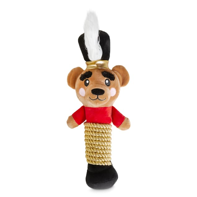 Holiday Tails The Nutcracker Bear Prince Plush & Rope Dog Toy with Squeaker, Large - Carousel image #1