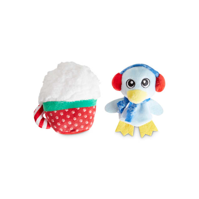 Holiday Tails Penguin's Holiday Adventures Plush Dog Toys with Squeakers & Crinkle, Small, Pack of 2 - Carousel image #1