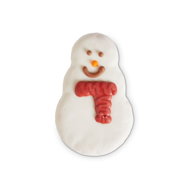 Holiday Tails Season's Treatings Snowman-Shaped Cookie Dog Treat, 1.98 oz. - Carousel image #1