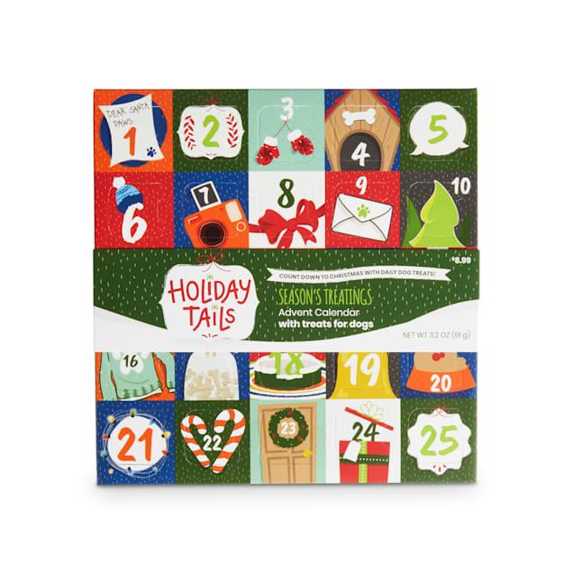 Holiday Tails Season's Treatings Advent Calendar Dog Treats, 3.2 oz. - Carousel image #1