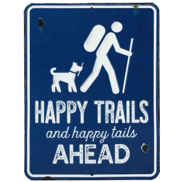 Open Road Brands Happy Trails & Happy Tails Ahead Metal Sign - Carousel image #1
