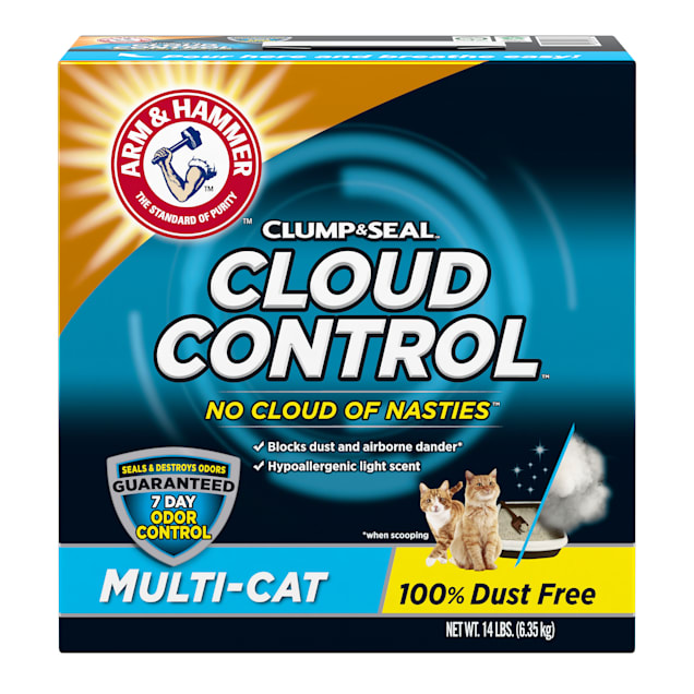 Arm & Hammer Clump & Seal Cloud Control Multi-Cat Clumping Litter, 14 lbs. - Carousel image #1