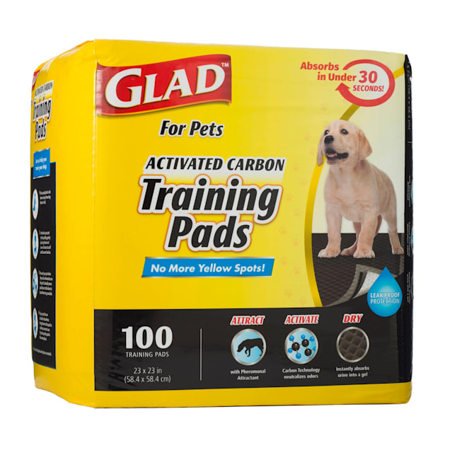 GLAD for Pets Large Activated Carbon Puppies & Senior Dog Training Pads, Count of 100 - Carousel image #1
