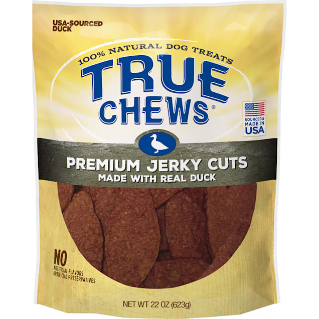 True Chews Premium Jerky Cuts Made with Real Duck Dog Food, 22 oz. - Carousel image #1