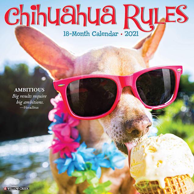 Willow Creek Press Chihuahua Rules 2021 Calendar, Large - Carousel image #1