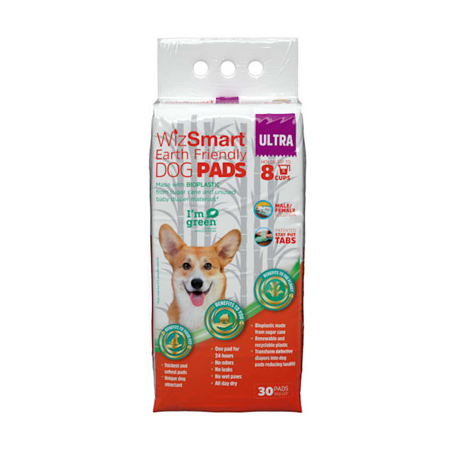 WizSmart Earth Friendly Premium Ultra Dry Dog Pads, Medium, Count of 30 - Carousel image #1