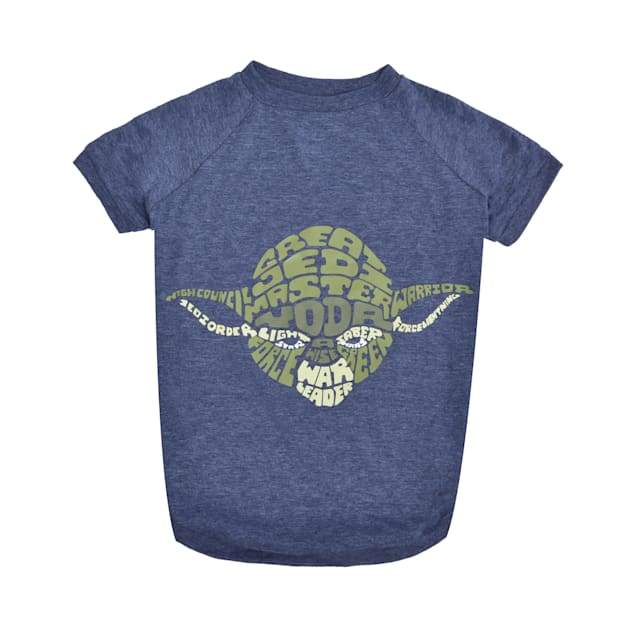 Fetch for Pets Blue Yoda Wisdom Dog T-Shirt, Small - Carousel image #1
