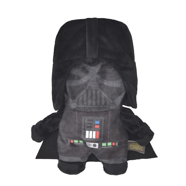 Fetch for Pets Darth Vader Plush Flattie Dog Toy, Small - Carousel image #1