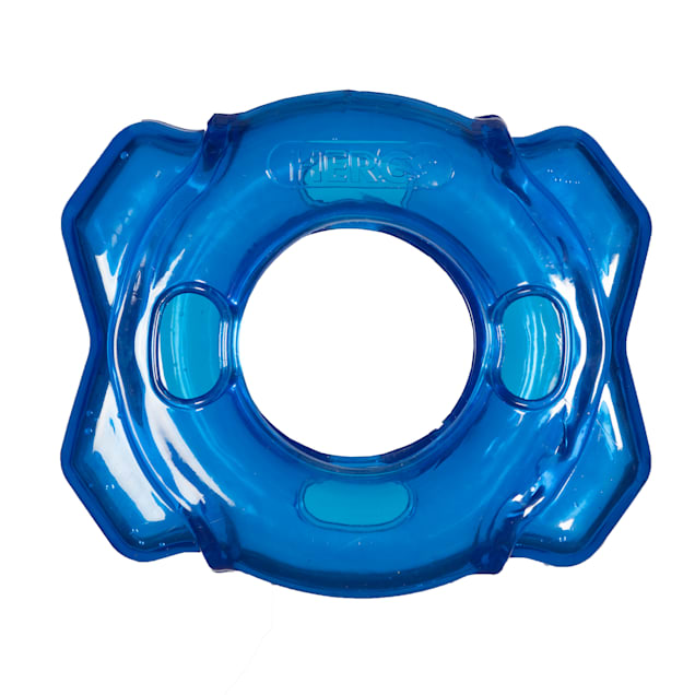 Hero Treat N Play Blue Foraging Ring Dog Toy, Medium - Carousel image #1