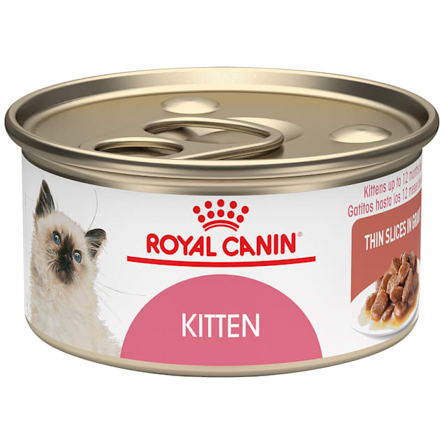 Royal Canin Feline Health Nutrition Thin Slices in Gravy Wet Kitten Food, 3 oz., Case of 24 - Carousel image #1