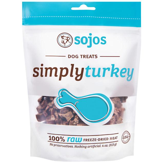 Sojos Simply Raw Turkey Freeze-Dried Dog Treats, 4 oz. - Carousel image #1