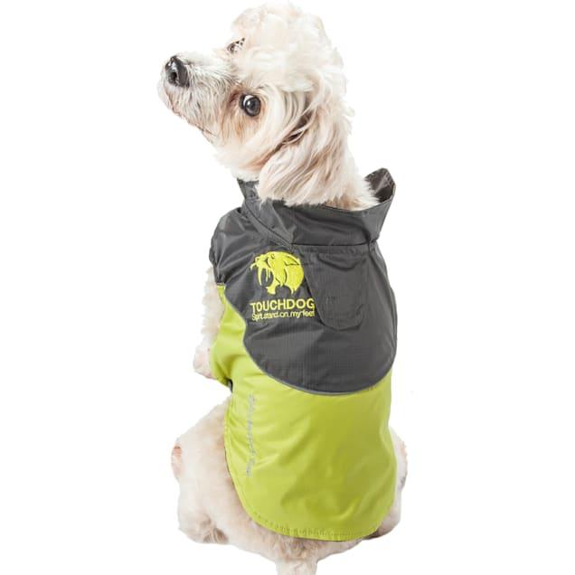 Touchdog Green Subzero-Storm Waterproof 3M Reflective Dog Coat, X-Small - Carousel image #1