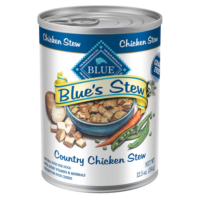 Blue Buffalo Blue's Stew Country Chicken Stew Adult Canned Dog Food, 12.5 oz., Case of 12 - Carousel image #1