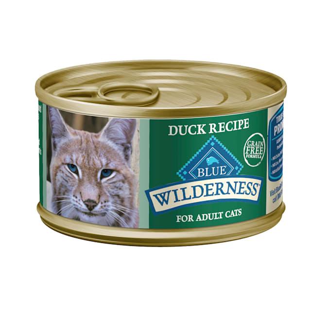 Blue Buffalo Blue Wilderness Duck Recipe Wet Cat Food, 3 oz., Case of 24 - Carousel image #1