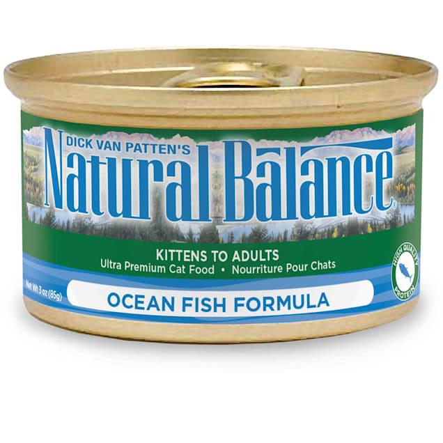 Natural Balance Ocean Fish Formula Wet Cat Food, 3 oz., Case of 24 - Carousel image #1