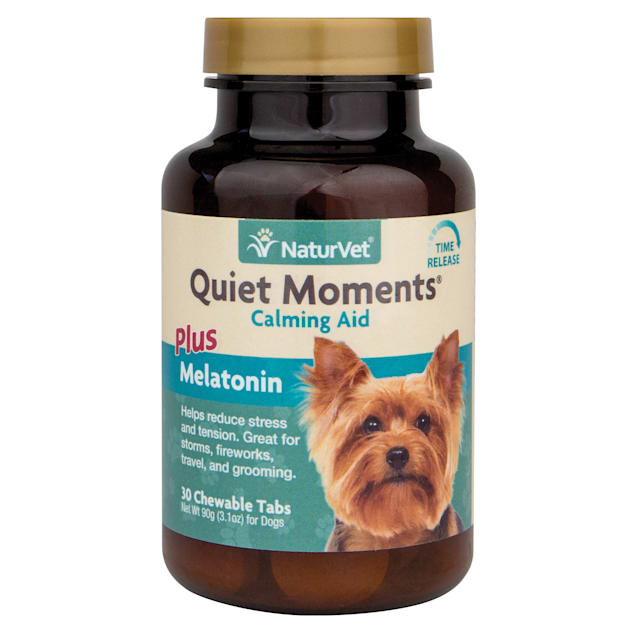 NaturVet Quiet Moments Time Release Chewable Tablets for Dogs, Count of 30 - Carousel image #1