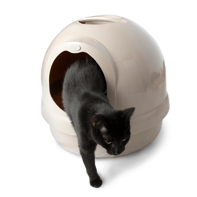 Booda Dome Covered Litter Box in Titanium - Carousel image #1