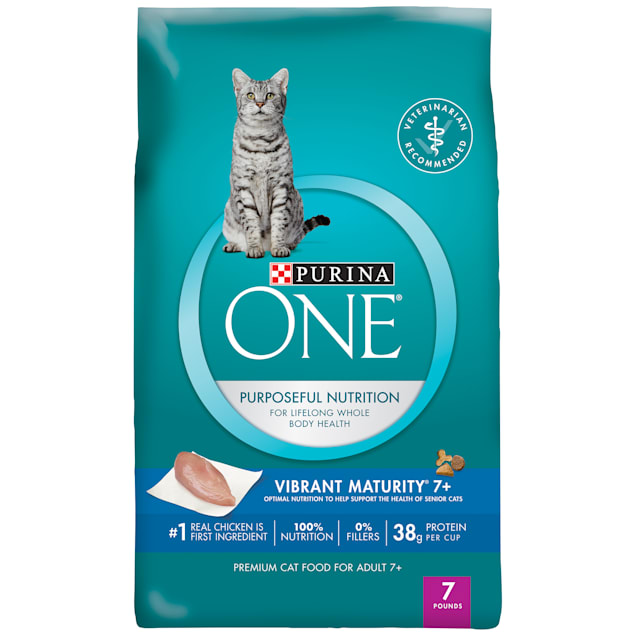 Purina ONE Vibrant Maturity 7 Plus Senior Cat Food, 7 lbs. - Carousel image #1